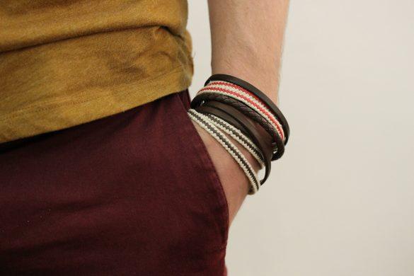 bracelet cuir homme gravable