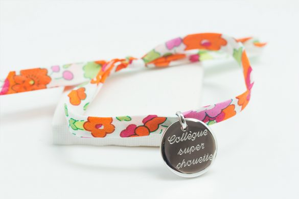 bracelet personnalisé collègue