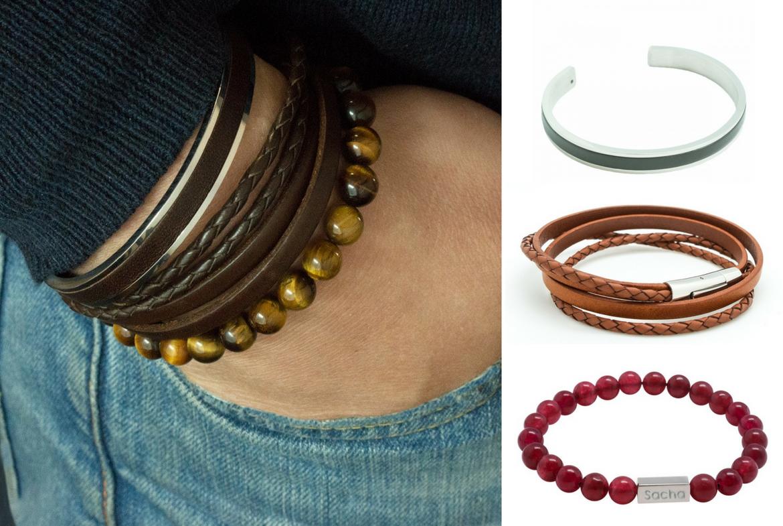 s lection de bracelets tendances pour papa blog bijoux personnalis s petits tr sors. Black Bedroom Furniture Sets. Home Design Ideas