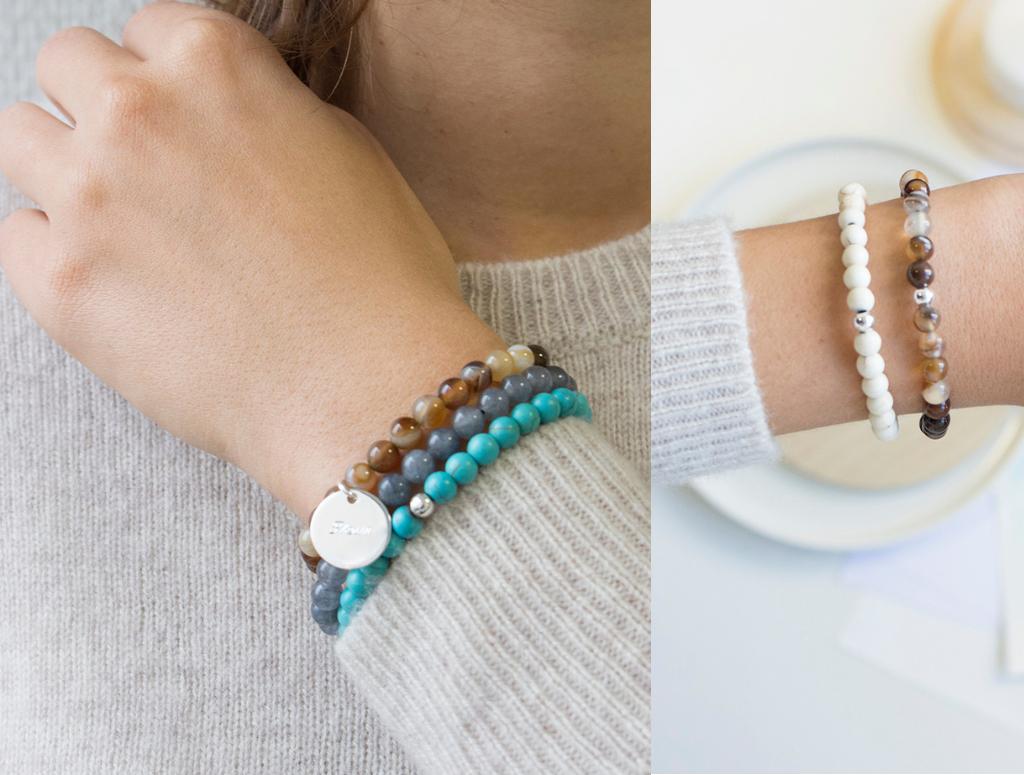 design intemporel a4adc 46ff2 Nouveautés : nos bracelets perles agates à graver ! -
